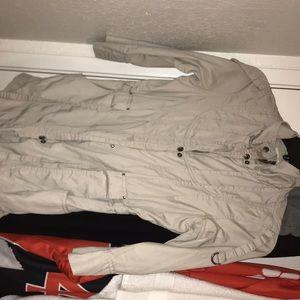 Cream colored Utility jacket